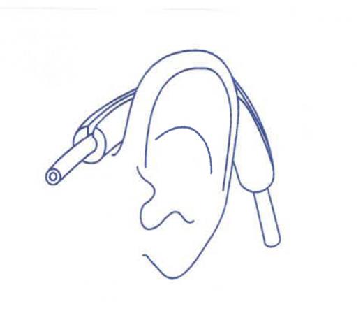 Ohrenpolster / Manschetten -  für Sauerstoffnasenbrillen