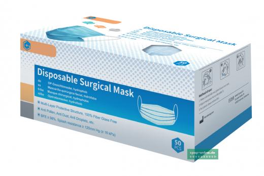 Gesichtsmaske EN 14683 Typ iiR 3 lagig- 50 Stück